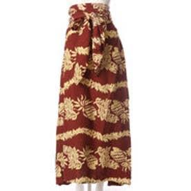 【Kahiko】ハラカヒキサッシュスカート ワンピース WAY ブラウン