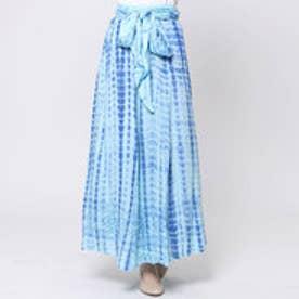 【Kahiko】オルテガ柄タイダイサッシュスカート / ワンピース ネイビー