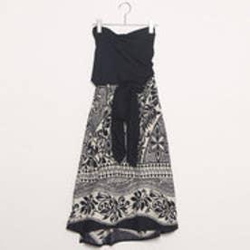 【Kahiko】トライバルタパ サッシュスカート / ワンピース ブラック