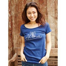 【Kahiko】AlohaパインTシャツ Mサイズ ネイビー
