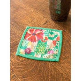 【カヤ】日本の花々コースター グリーン
