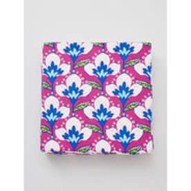 【カヤ】日本の花々四角座布団 ピンク