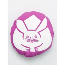 【カヤ】日本の縁起物 丸クッション小 パープル