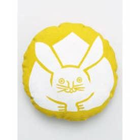【カヤ】日本の縁起物 丸クッション小 イエロー