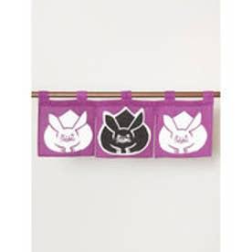 【カヤ】日本の縁起物 ミニ暖簾 パープル