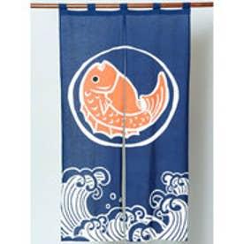 【カヤ】日本の縁起物 暖簾 ブルー系その他
