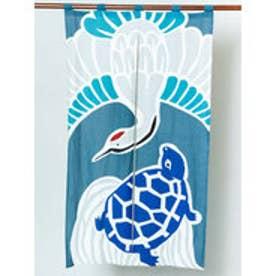 【カヤ】日本の縁起物 暖簾 ブルー