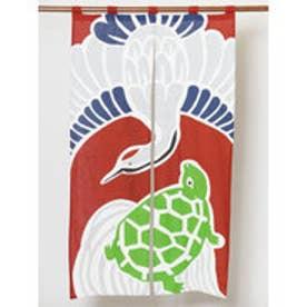 【カヤ】日本の縁起物 暖簾 レッド