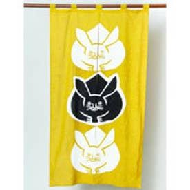 【カヤ】日本の縁起物 暖簾 イエロー