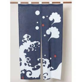 【カヤ】和モダン渋色暖簾 ネイビー