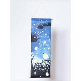 【カヤ】季節を飾るタペストリー 夜空に輝く蛍 ダークブルー