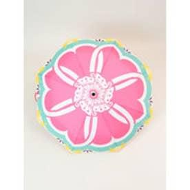 【カヤ】晴雨兼用折りたたみ傘 和モダン柄 蝶紋様 ピンク