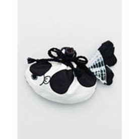 【カヤ】金魚巾着ポーチ ホワイト×ブラック