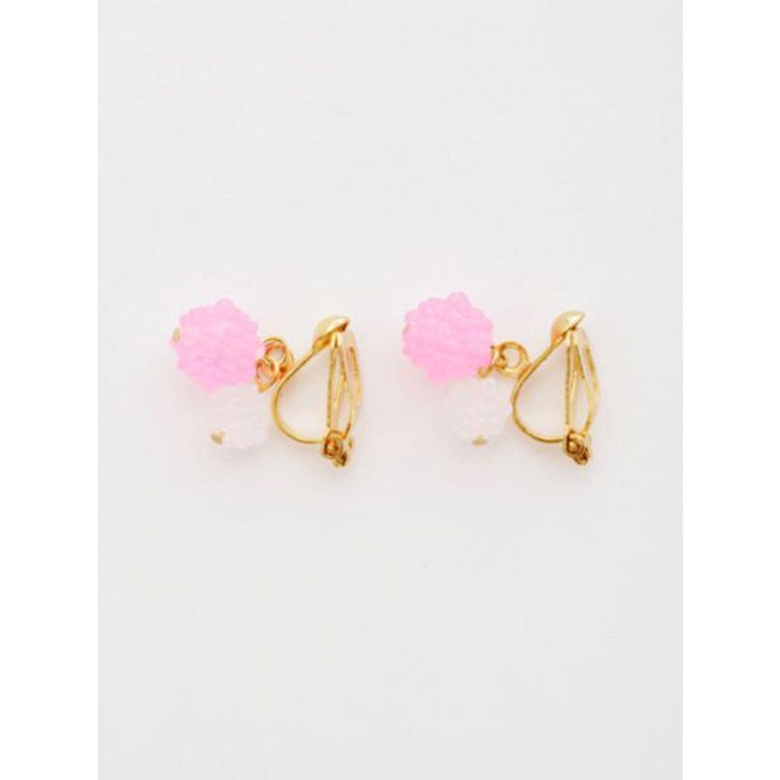 【カヤ】金平糖ふたつぶイヤリング ピンク