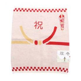 【カヤ】祝い腹巻き Lサイズ ホワイト×レッド