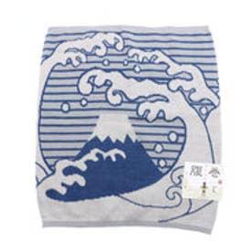 【カヤ】富士波腹巻き Lサイズ ホワイト×ブルー