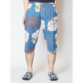【カヤ】和紋メンズハーフパンツ ブルー