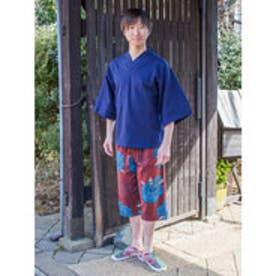 【カヤ】和紋メンズハーフパンツ レッド