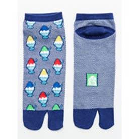 【カヤ】夏色鹿の子編み 足袋くつ下25~28cm ブルー系その他