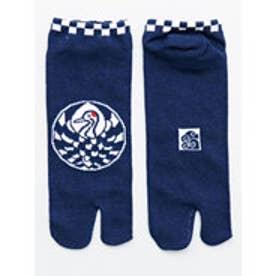 【カヤ】お守り足袋くつ下25~28cm 鶴 ネイビー