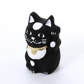 【カヤ】豆招き猫 無地 ブラック