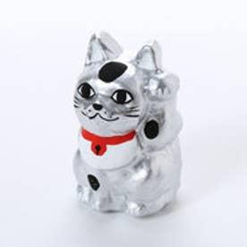 【カヤ】豆招き猫 金銀 シルバー