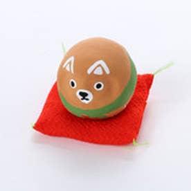 【カヤ】豆犬だるま 干支戌 ライトブラウン
