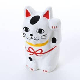 【カヤ】招き猫 水引 ホワイト×レッド