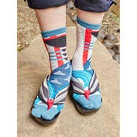 【カヤ】にっぽん昔ばなし一寸法師 足袋型靴下23~25cm ブルー系その他