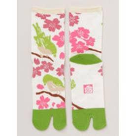 【カヤ】桜うぐいす足袋くつ下23~25cm 桜