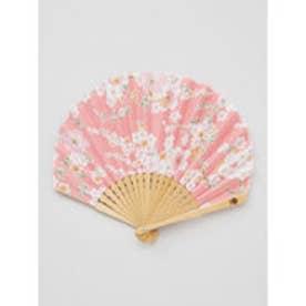 【カヤ】舞い桜扇子 ピンク