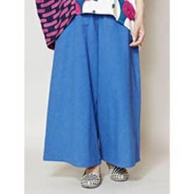 【カヤ】彩りワイドパンツ ブルー