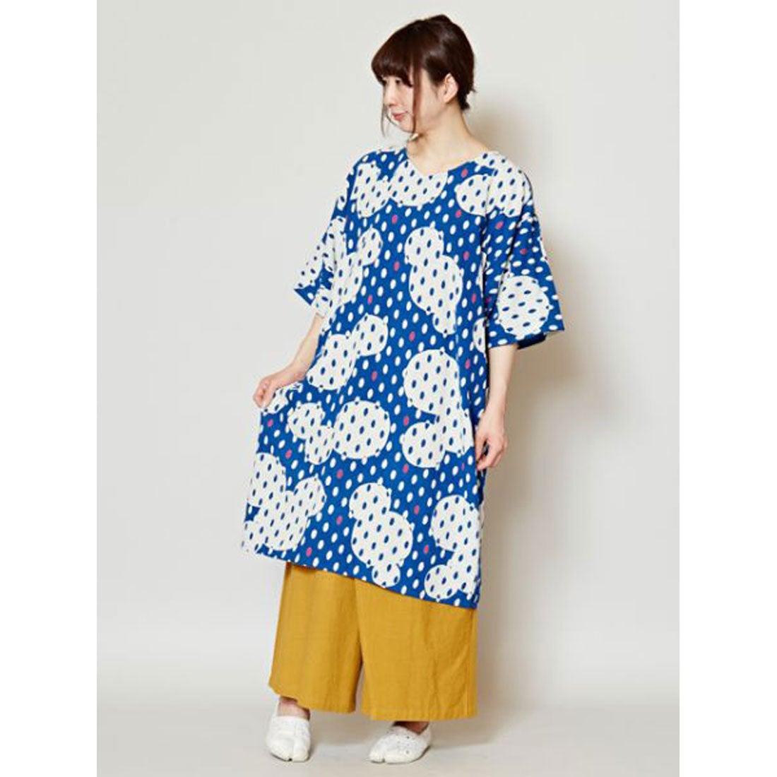 faee4d71fa76e  カヤ 和モダン涼色ワンピース ブルー -靴&ファッション通販 ロコンド〜自宅で試着、気軽に返品