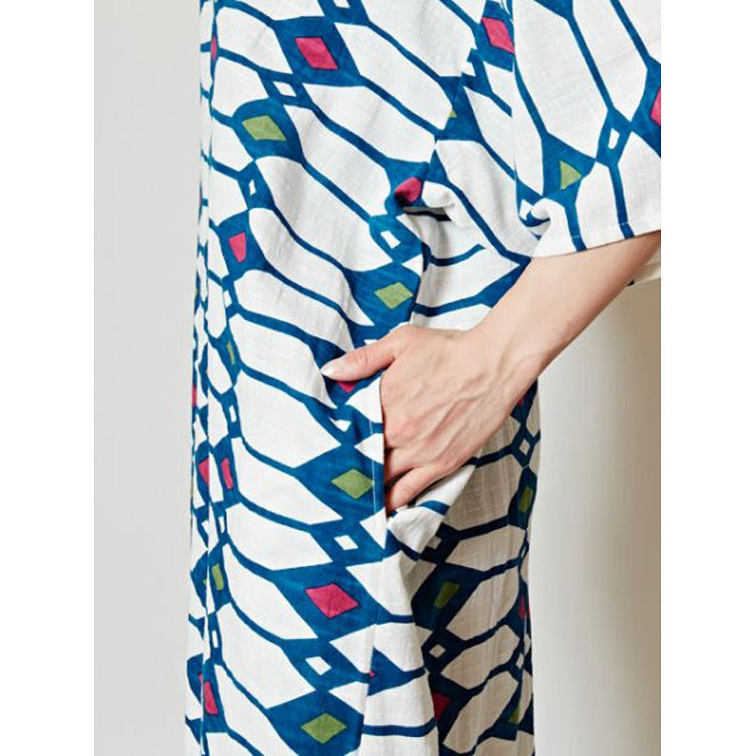 7d06ca8acd18a カヤ 和モダン涼色ワンピース ブルー系その他 -靴&ファッション通販 ...