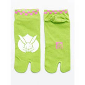 【カヤ】お守り足袋くつ下23~25cm うさぎ グリーン×ピンク
