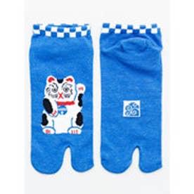 【カヤ】お守り足袋くつ下23~25cm 招き猫 ブルー
