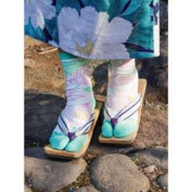 【カヤ】蓮池足袋くつ下23~25cm ホワイト×グリーン