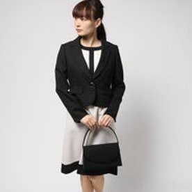 ブラックギャラリー BLACK GALLERY バイカラーワンピとテーラードジャケットのアンサンブルスーツ (ブラック) [ブラックフォーマル 喪服 礼服]