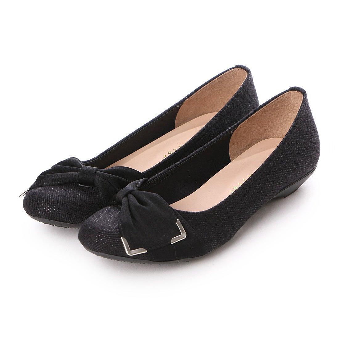 783029d9207a ジェリービーンズ JELLY BEANS 金具サイドリボンバレエパンプス 125-1375 (黒) -靴&ファッション通販  ロコンド〜自宅で試着、気軽に返品