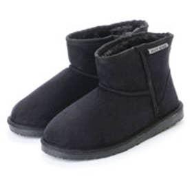 ジェリービーンズ JELLY BEANS ショート丈ムートン調ブーツ 210-139 (黒)