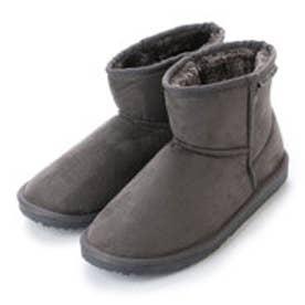 ジェリービーンズ JELLY BEANS ショート丈ムートン調ブーツ 210-139 (グレー)