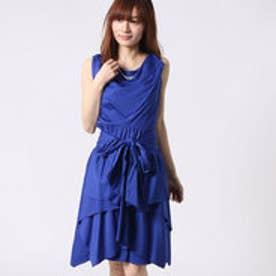 アウリィ AULI スカート付2wayワンピース (ブルー)