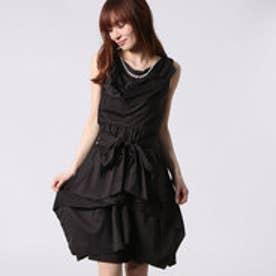 アウリィ AULI スカート付2wayワンピース (ブラック)