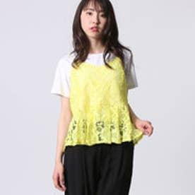 アウリィ AULI レースキャミ+Tシャツセット (ホワイト)