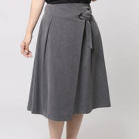 アウリィ AULI 2wayラップスカート (GRY)
