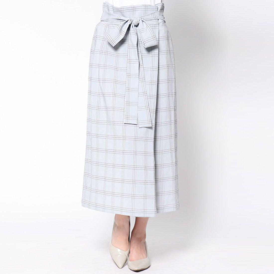 【SALE 40%OFF】アウリィ AULI チェック柄ラップ風スカート (MINT)