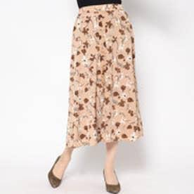 アウリィ AULI 前釦花柄スカート (BEG)