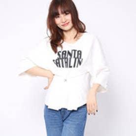 ファクターイコール Factor= 20番糸ロゴコルセットTシャツ (WH)