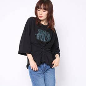ファクターイコール Factor= 20番糸ロゴコルセットTシャツ (BK)