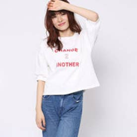 ファクターイコール Factor= 10番糸ロゴ半袖Tシャツ (WH)
